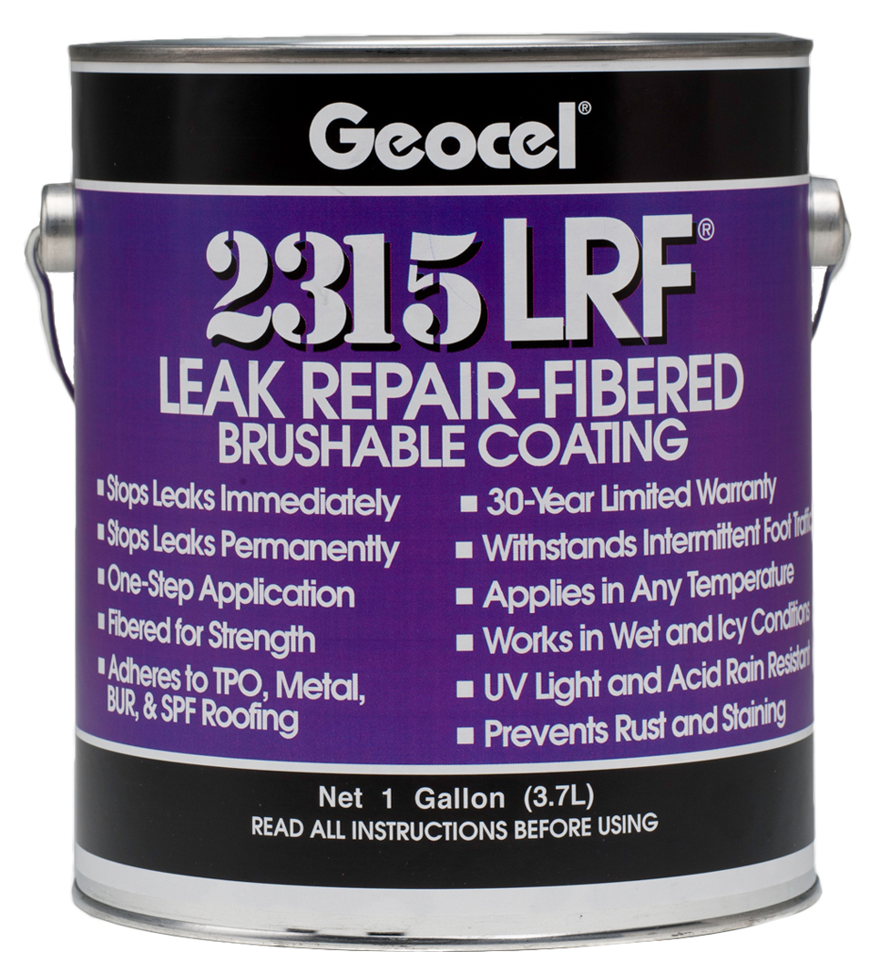 Water Leak Sealer Spray : Lrf leak repair fibered brushable coating geocel